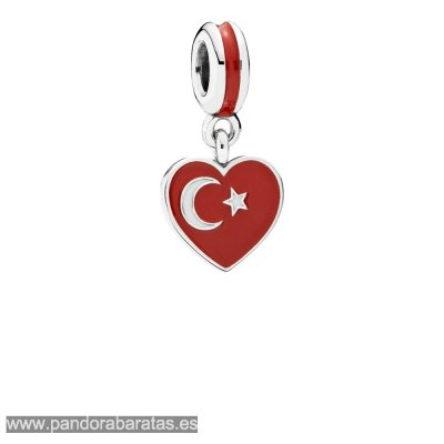 Comprar Turkey Heart Flag Pendant Charm