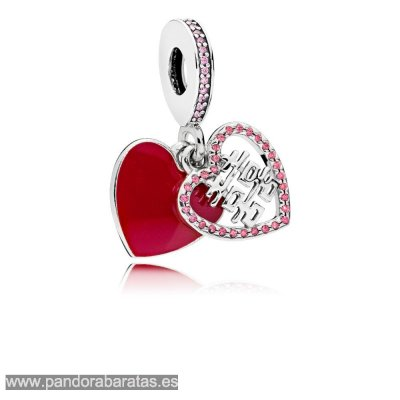 Comprar Double Happiness Heart Hanging Charm